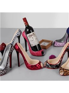 Unique Resin and Cloth High Heel Manual Wine Rack