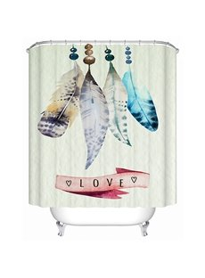 Cute Feathers Handicrafts 3D Bathroom Shower Curtain