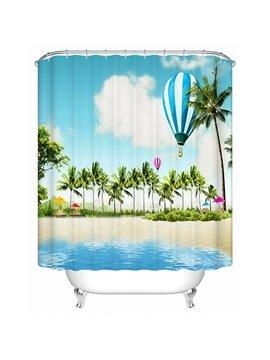 Cool Beach Scene Print 3D Bathroom Shower Curtain