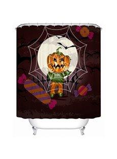 Halloween Jack-O-Lantern Print 3D Bathroom Shower Curtain