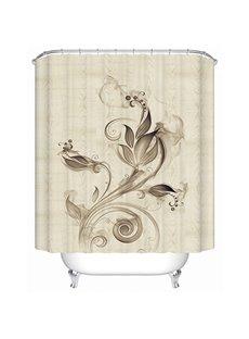 Amazing Ink Flowers Print 3D Bathroom Shower Curtain
