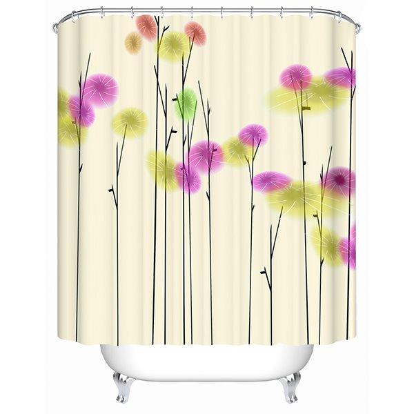 Cartoon Colorful Trees Print 3D Bathroom Shower Curtain