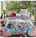 Charming Idyllic Tropical Style 4-Piece Cotton Duvet Cover Sets