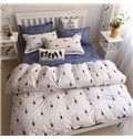 Minimalist Bulb Print Polyester 4-Piece Duvet Cover Sets