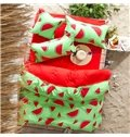 Fresh Watermelon Print Polyester 4-Piece Bedding Sets/Duvet Cover