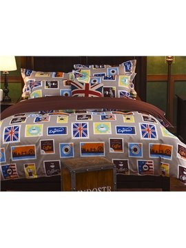 Luxury British Style 4-Piece Polyester Duvet Cover Sets