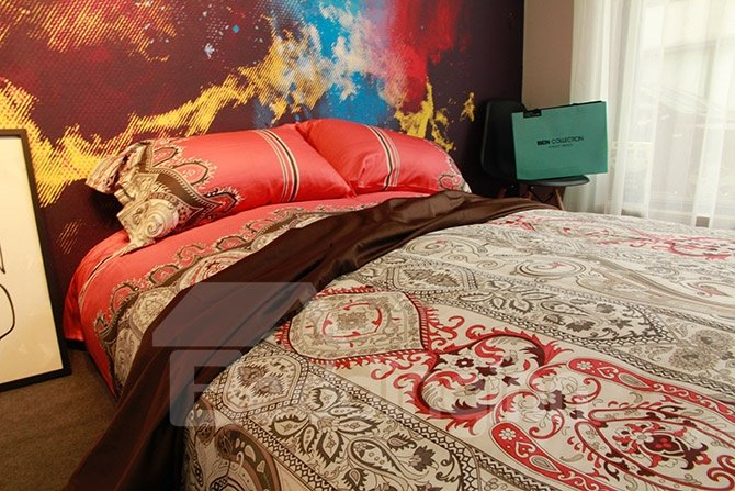 Exotic Damask Reactive Printing Red 4-Piece Cotton Bedding Sets