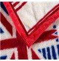 Popular England Flag Print Polyester Blanket