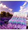 Comfy Romantic Lavender Lightweight Polyester Blanket