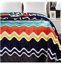 Super Cozy Colorful Serpentine Stripes Print Polyester Blanket