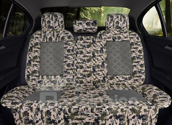 Natural Fibers Flax Material Camouflage Good Air Permeability And Beautiful Art Design Universal Car Seat Cover