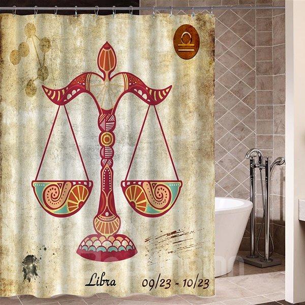 Exotic Libra Symbol Print 3D Bathroom Shower Curtain - beddinginn.com