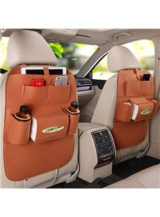 Classical High Rave Car Storage Bag Auto Backseat Organizer Pair