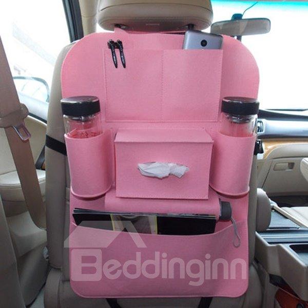Super High Quality Comfortable Felt And Anti-Kicking Car Backseat Organizer
