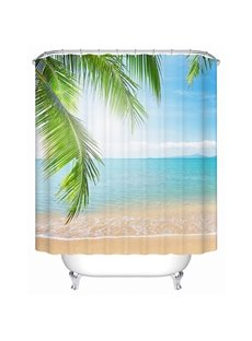 Charming Sunny Beach Print 3D Shower Curtain
