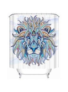 Colored Lion Illustration Print 3D Bathroom Shower Curtain