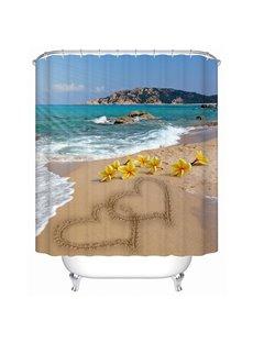 Romantic Beach Print 3D Bathroom Shower Curtain