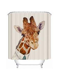 Funny Mr.Giraffe Print 3D Bathroom Shower Curtain
