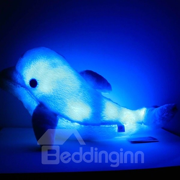 Luminous Touch Contral Cute Dolphin PP Cotton Throw Pillow