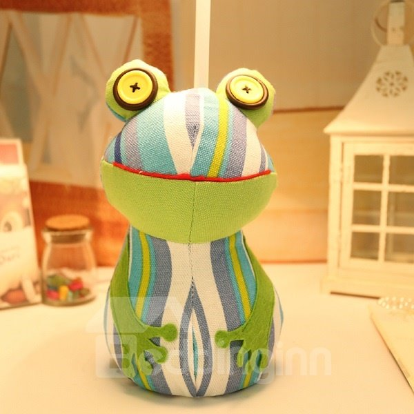 So Funny Frog Design Cloth and Metal Table Lamp
