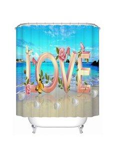 Sweet Love Print 3D Bathroom Shower Curtain
