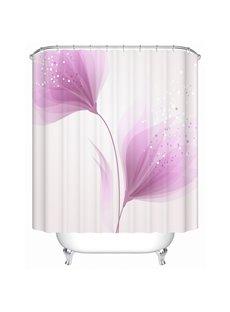 Romantic Pink Flowers Print Bathroom Shower Curtain