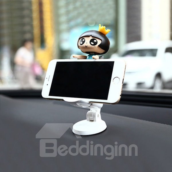 Interesting Cartoon Girl Design Environment Material Car Phone Holder