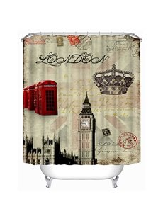 Typical London Symbol Print 3D Bathroom Shower Curtain