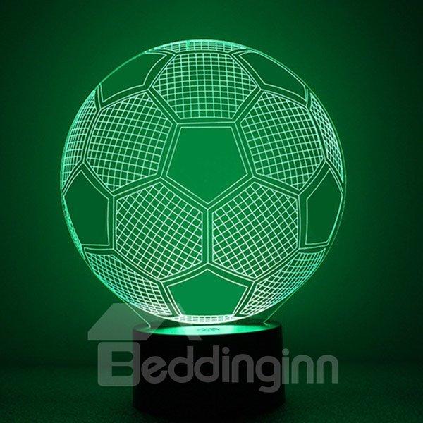 Simple Acrylic Football Shape LED Nightlight