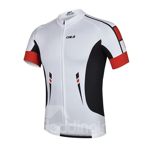 Male Cool Breathable Jersey with Zipper Sponged Outdoor Cycling Suit