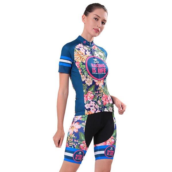 e7e960ea2 70 Female Tropical Vintage Flowers Breathable Bike Jersey with Zipper ...