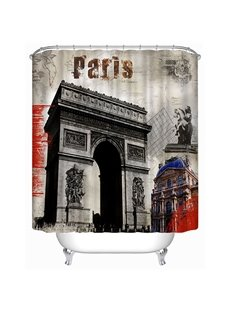 Paris Arc de Triomphe Print 3D Bathroom Shower Curtain