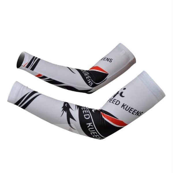 Female Speed Queen Graffiti White Cycling Golf UV Protection Cooling Arm Sleeve