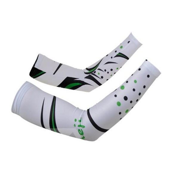 Female Abstract White Graffiti Cycling Golf UV Protection Cooling Arm Sleeve