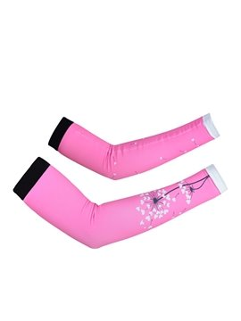 Female Pink Dandelion UV Protection Cycling Hiking Golf Cooling Arm Sleeve