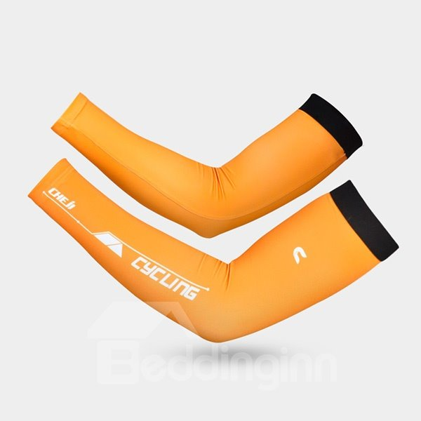 Unisex Solid Color Sun Protection UV Protection Cycling Cooling Arm Sleeve