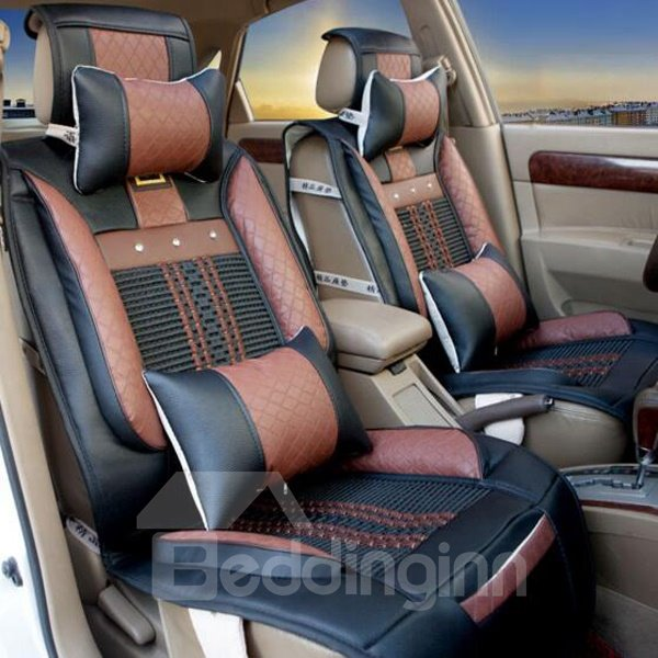 Popular And Easy Breathable Purifying Air Flax Universal Five Car Seat Cover