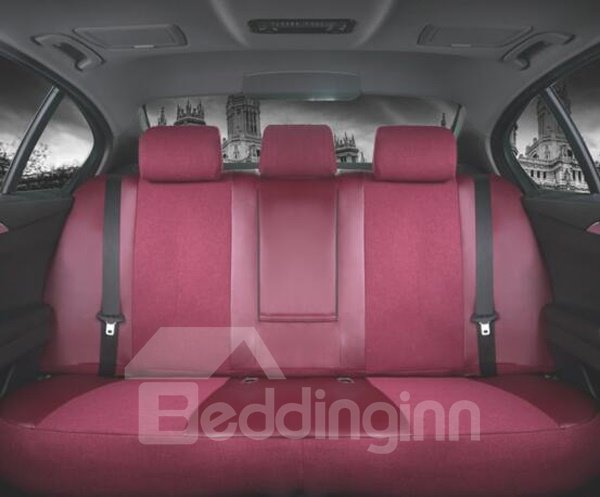 Fresh And Bright Smooth Beautiful Color Flax Material Car Seat Cover
