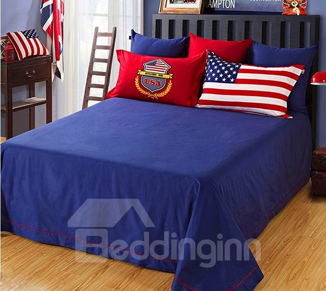 Creative American Flag Design 4-Piece Cotton Duvet Cover Sets