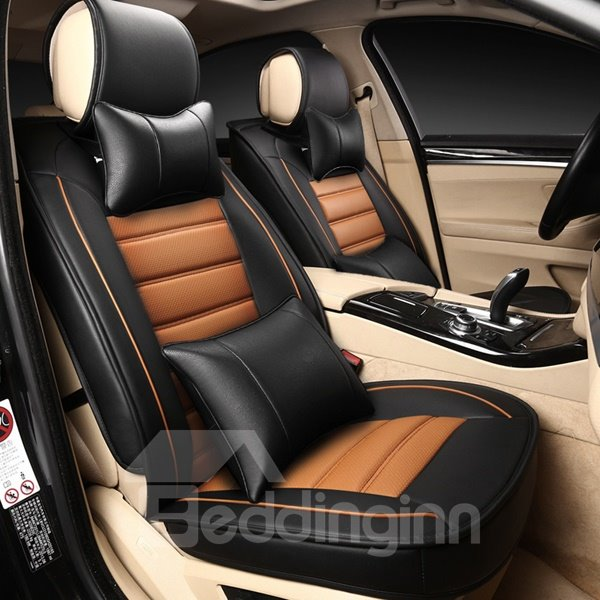 Durable Business Style And Most Cozy PU Leather Material Seven Car Seat Cover