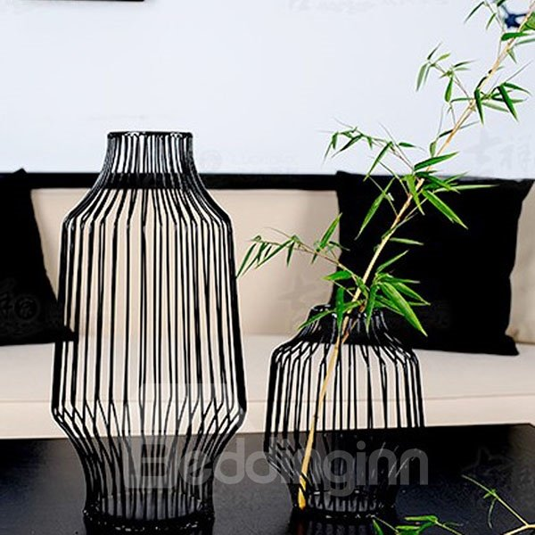 Neoclassical Northern Europe Iron Decorative Flower Vases Desktop Decoration