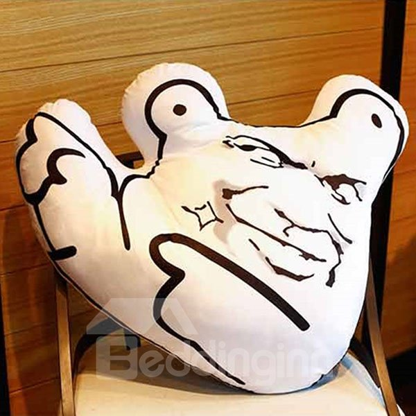 Pure Cotton Unique Facial Expression Design Throw Pillows