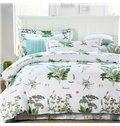 Pastoral Style Green JacobeanPattern 4-Piece Cotton Duvet Cover Sets