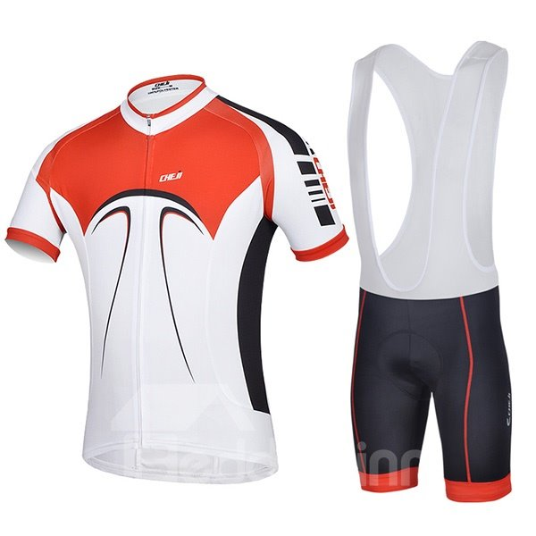 Male Breathable Short Sleeve Jersey Cycling Bib Shorts Suit