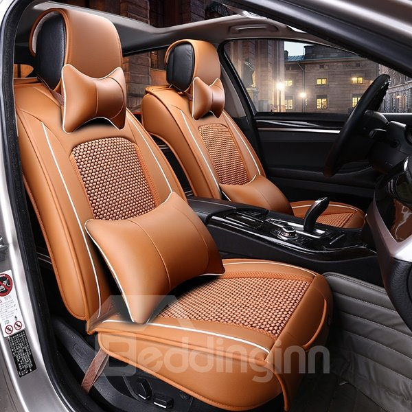 Cool Ice Silk Material Thick And Beautiful Lines Most Comfortable Car Seat Cover