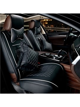 Matching Interior Beautiful Black And White Color Matched Universal Car Seat Cover