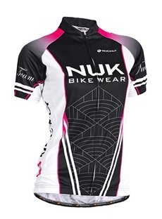 Female Black Road Bike Wear Short Sleeve Jersey with Full Zipper Cycling Jersey