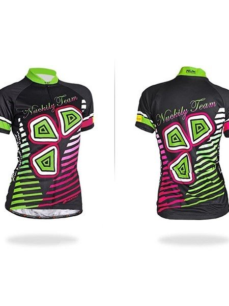 Female Colorful Road Bike Jersey with Full Zipper Cycling Jersey