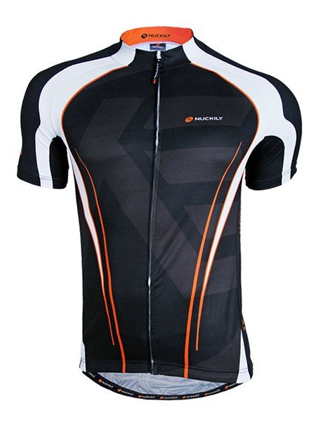 Male Black Quick-Dry Road Bike Jersey Breathable Full Zipper Cycling Jersey