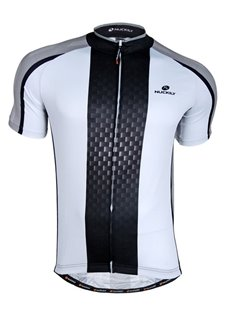 Male Breathable Full Zipper Road Bike Jersey Quick-Dry Cycling Jersey